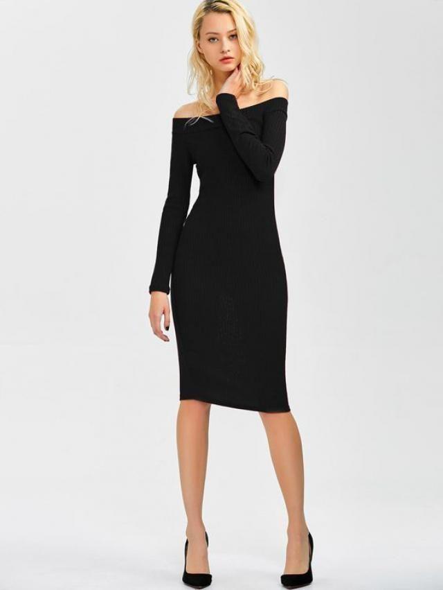 an elegant dress that follows the body line