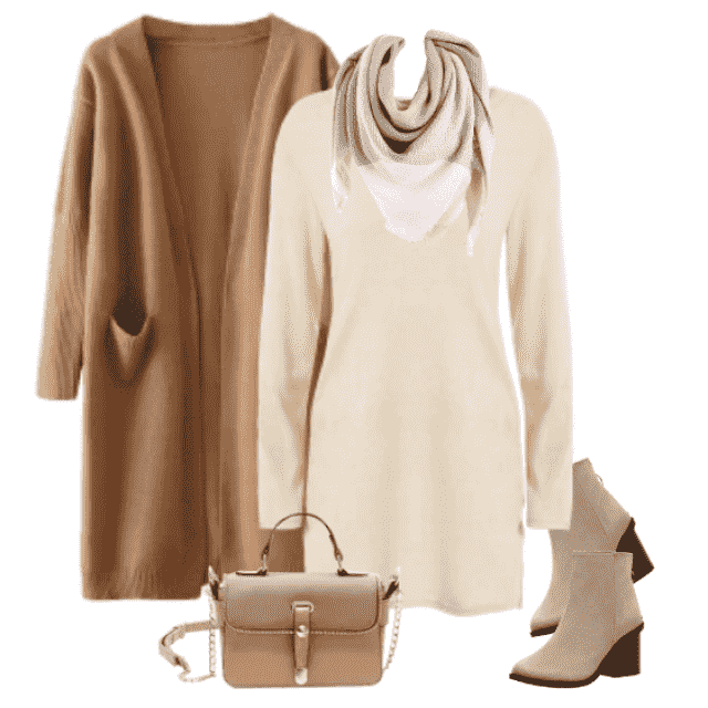 Warm comfy clothes for every daily occasion. Soft colors makes perfect match with colors of Fall.