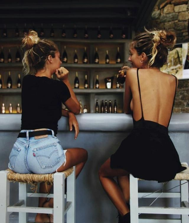 Which friend are you? The one on the left who dresses casual/comfortable or the one on the right who's always flirty an…