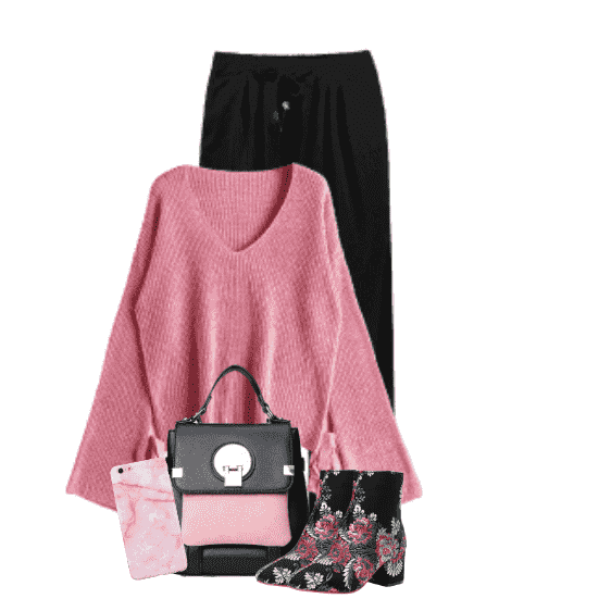 Outfits With Pink Trendy Sweater | Z Me ZAFUL Community