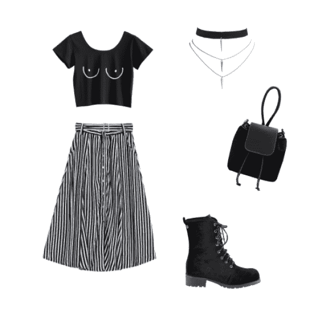 to go out with friends. I&;ve been into the whole boots and skirt look lately & who doesn&;t love a belted…