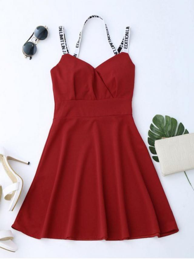 red irresistible short dress