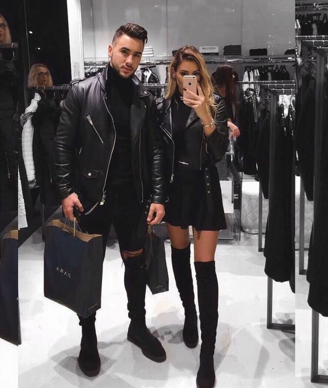 Total Black Couple Look