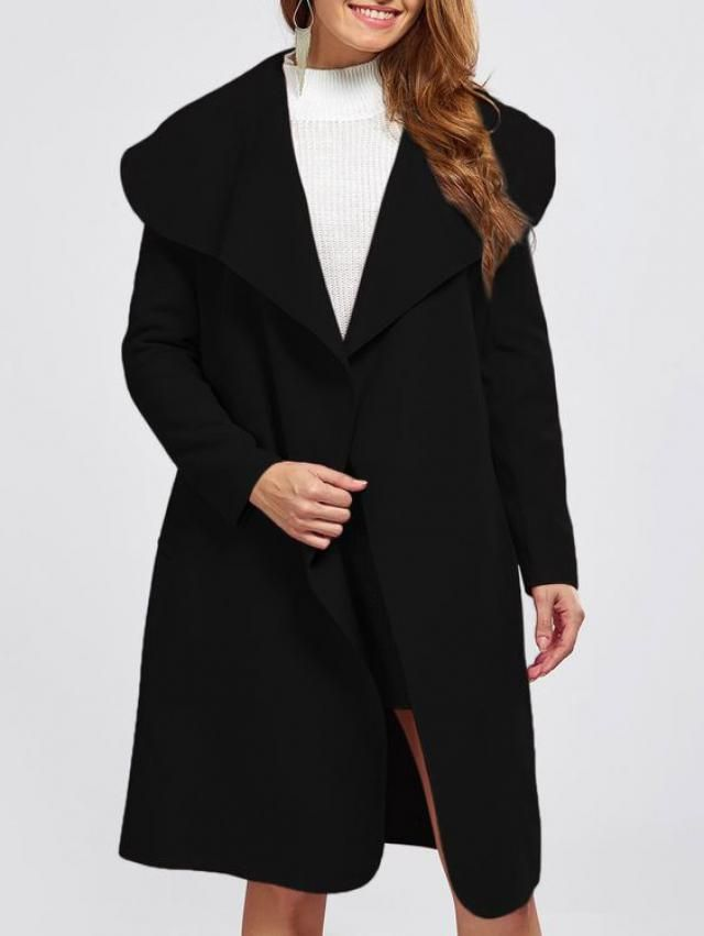 black long coat for cold days