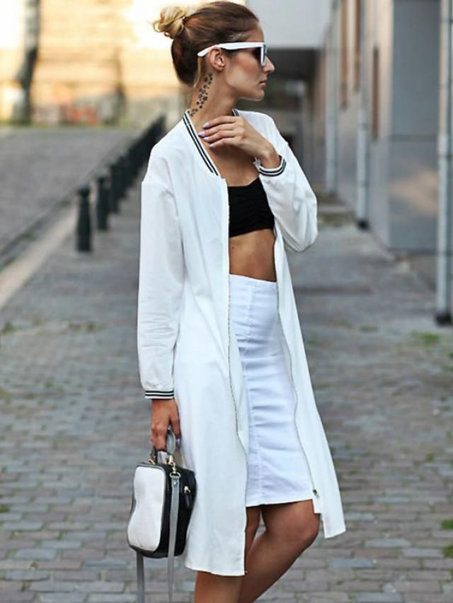 white coat or jacket so elegant