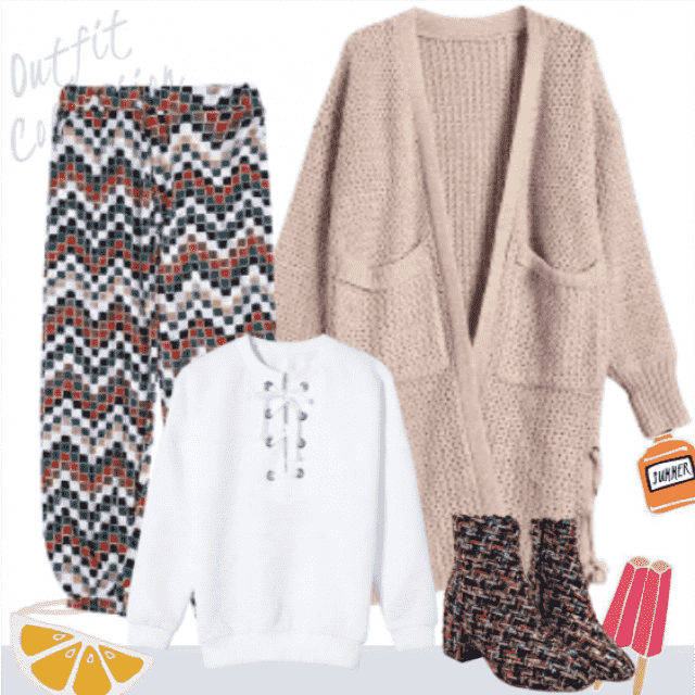Soft and comfy daily outfit. Cute and pretty!