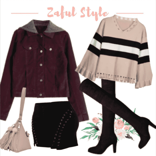A gorgeous look like this you can wear for going out, walk through the city or even during the day.