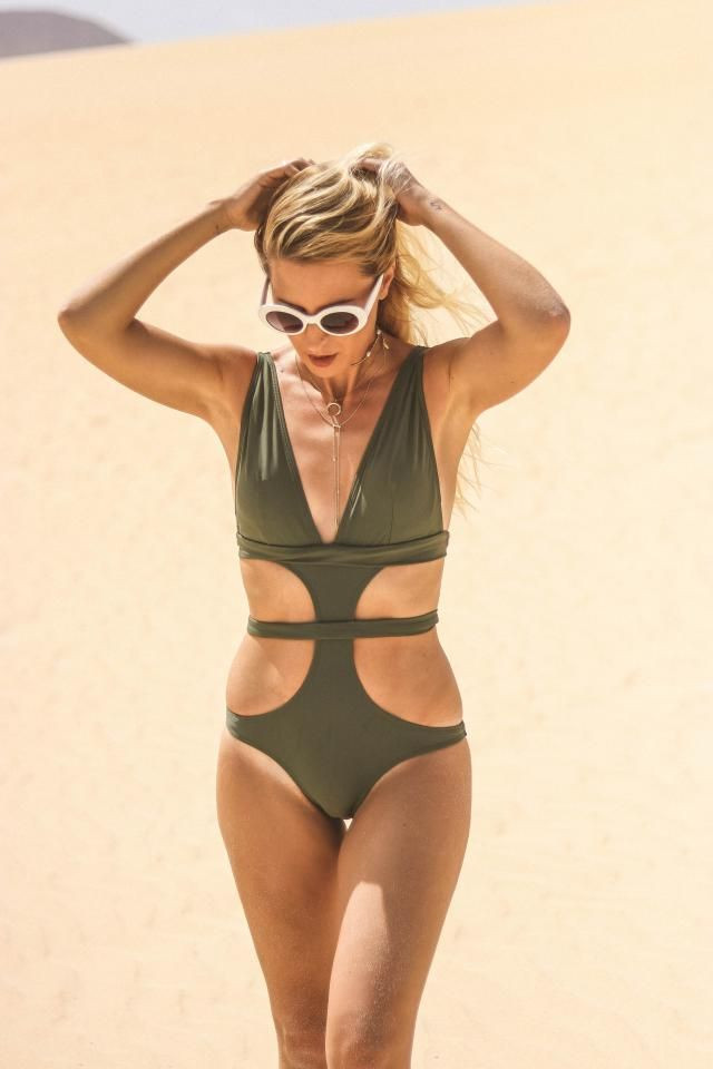 Khaki trikini perfect for a desert!! So cool