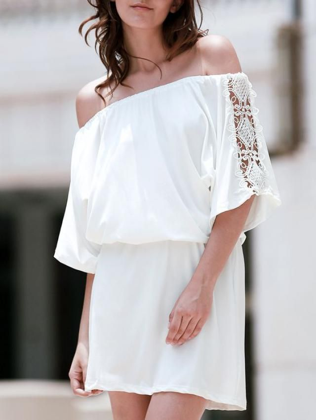 white tunic and can be and short dresses