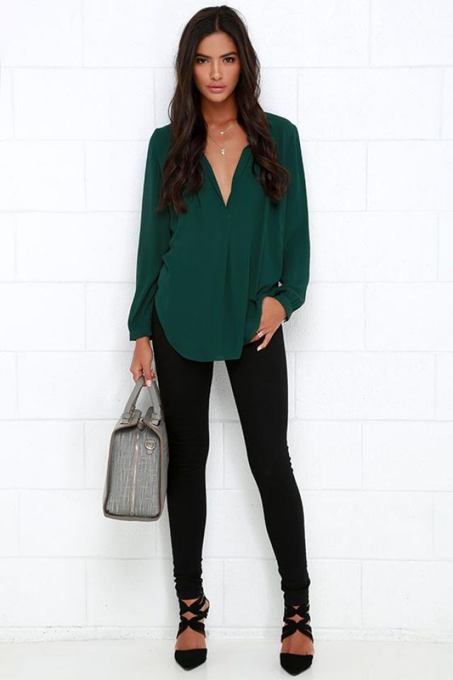 Green blouse!!
