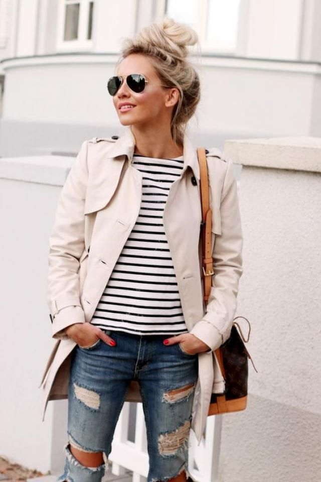 Stripe shirt, coat!