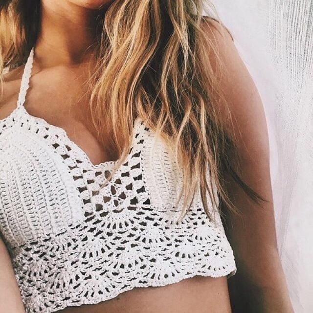 Crochet Midi Bikini Crop Top!!!