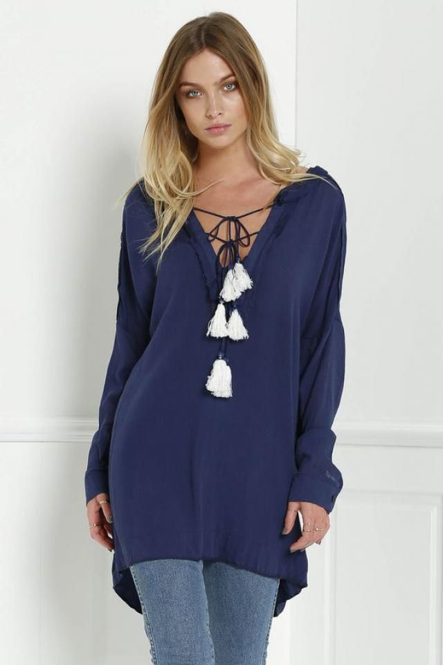 Riptide Tunic blue