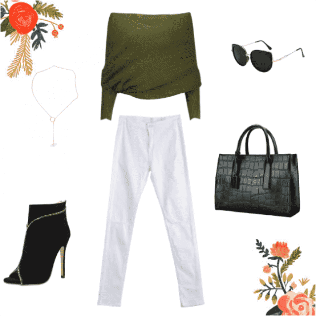 Need a stylish yet easy lunch date outfit? Easy, Grab your fave pair of white high waisted jeans, and pair that with a …