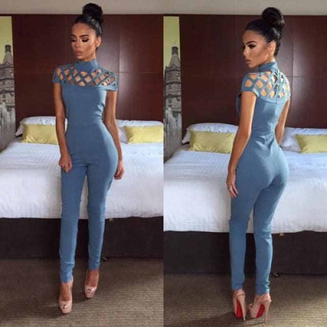 High Neck Cut Out Jumpsuit!!!