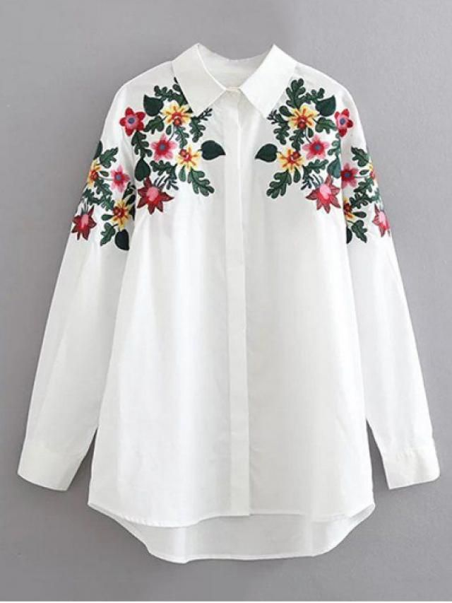 beautiful flowers blouse for every yong woman