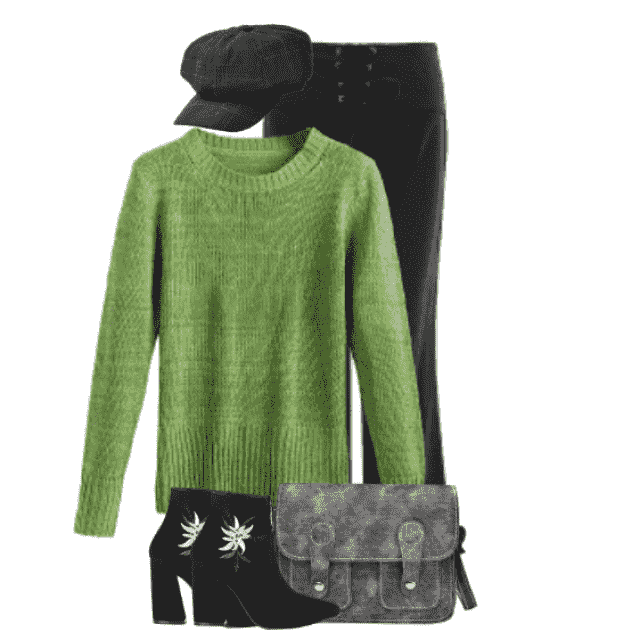 Fabulous green sweater - a wonderful and cozy piece for your autumnlook