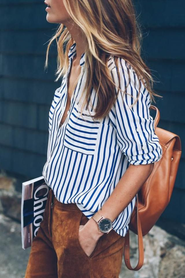 Stripe blouse!