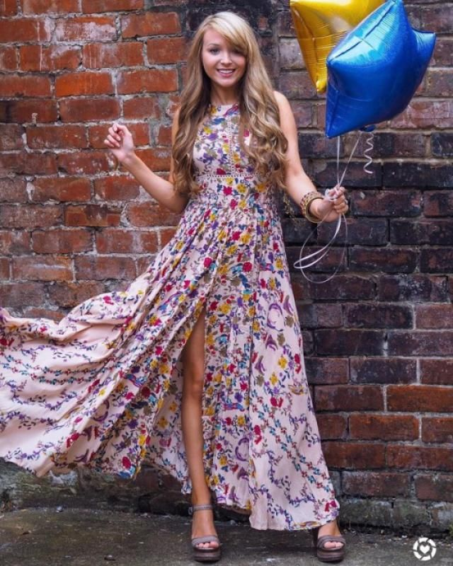 Floral Slit Cut Out Maxi Dress !!!