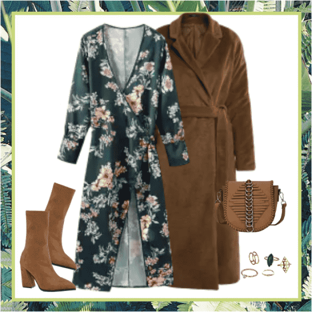 This outfit in earth tones makes your day better! You'll feel self-confident and beautiful!!