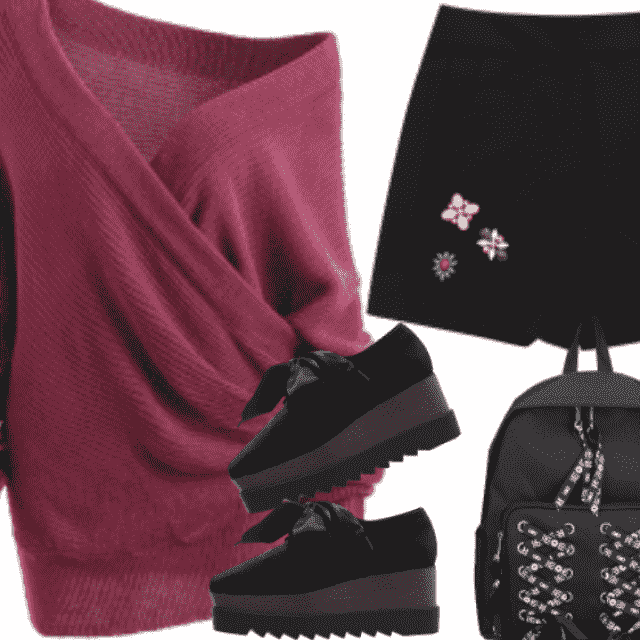 Chic style with big size sweater