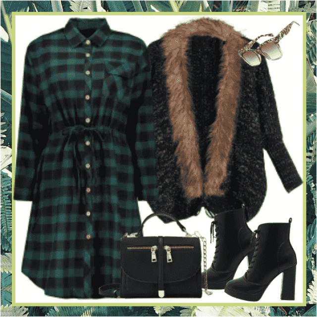 Casual dress and cardigan vs classic bag and ankle boots? No, together!