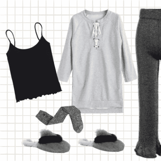 Stay at home and enjoy with a good book or TV wearing this comfortable clothes.