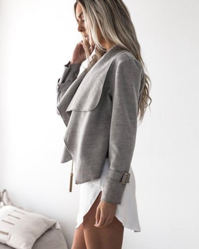 beautiful  grey coat