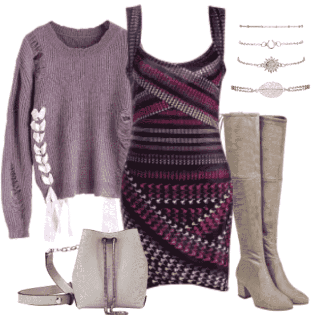 Gorgeous wearable outfit for not-so-cold fall days.