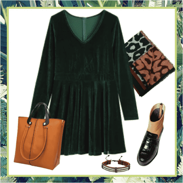 Romantic and lovely fall look, ideal for afternoon in the city.