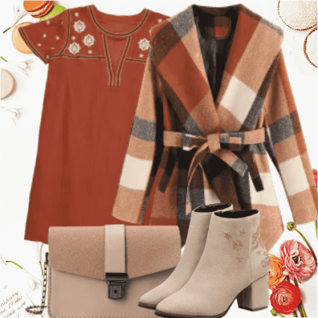 Very chic fall look with earth colors this is so trendy