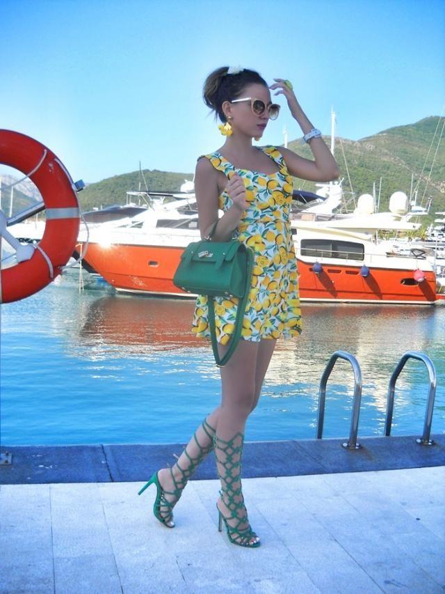 Day in Porto Montenegro, in amazing  dress IG: tijamomcilovic