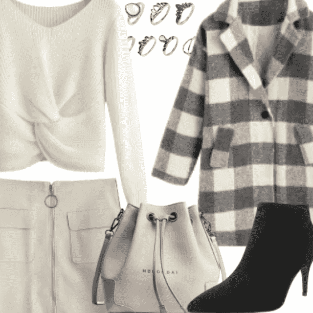 Plaid Coat is a must-have this winter