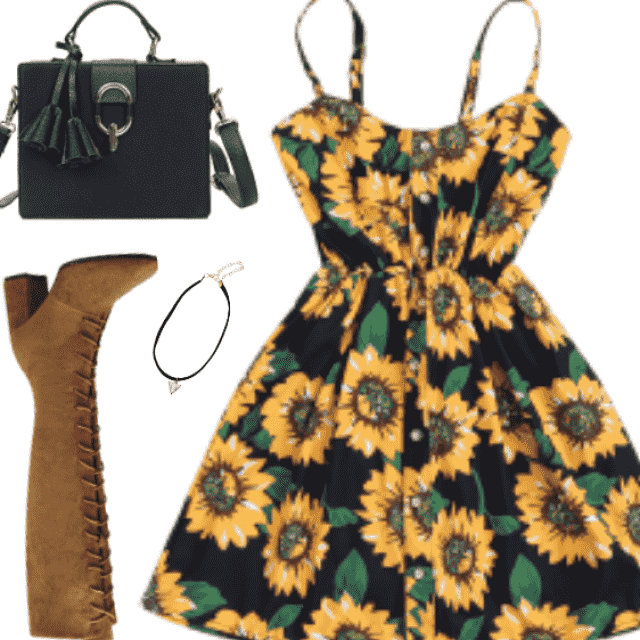Cute Sunflower Chic and Sexy Dresses