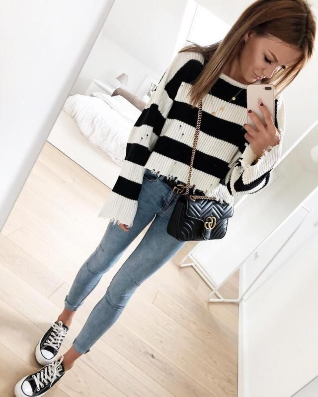 What do you think about this Zaful Striped Sweater?