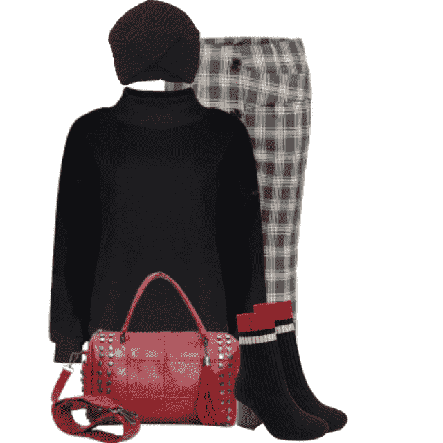 Black casual sweater for woman - beautiful in combo with the pants