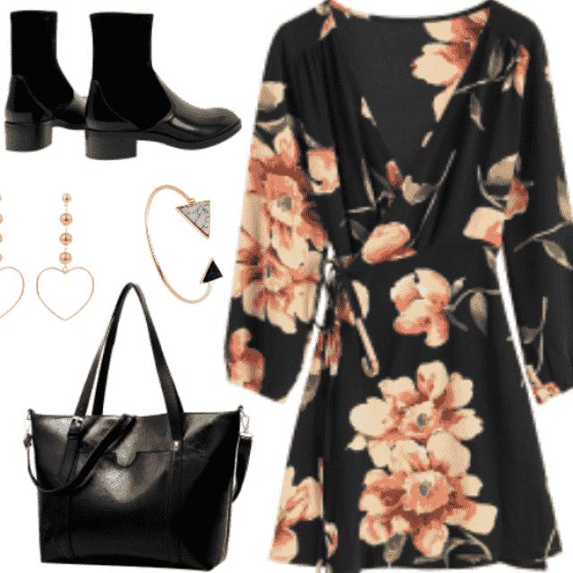 Black Floral Dresses today