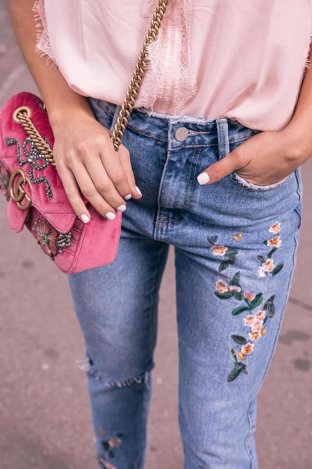 Floral denim is the new thing?
