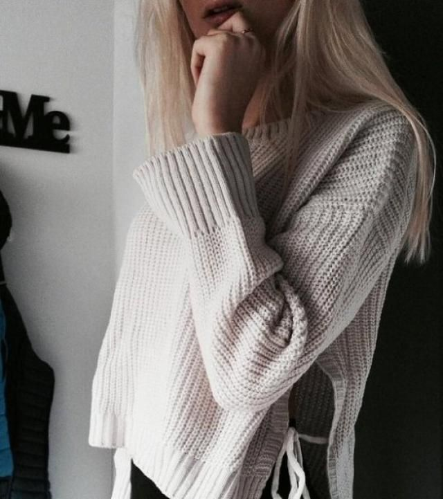 Drop Shoulder Side Slit High Low Sweater !!!