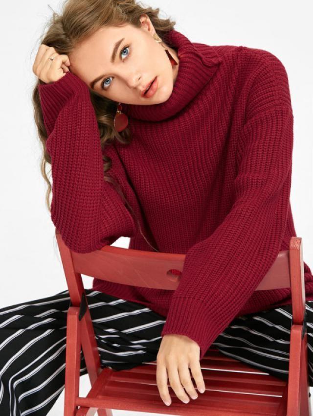 Oversized Turtleneck Chunky Sweater!!!