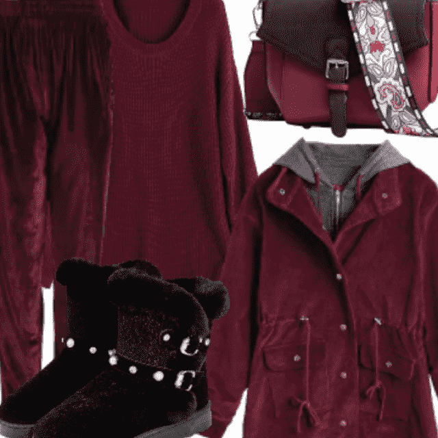 Burgendy Is Very Trendy In Fall And Winter So Get This Look