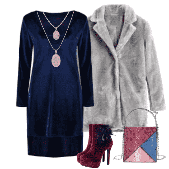 Elegant and feminine look, ideal for going out for dinner with someone you care about.