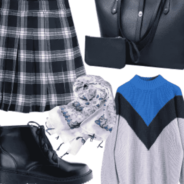 Cool School Look , Library Chic Outfit