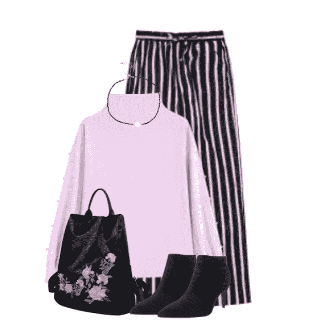 Casual striped pants - beautiful and comfy look