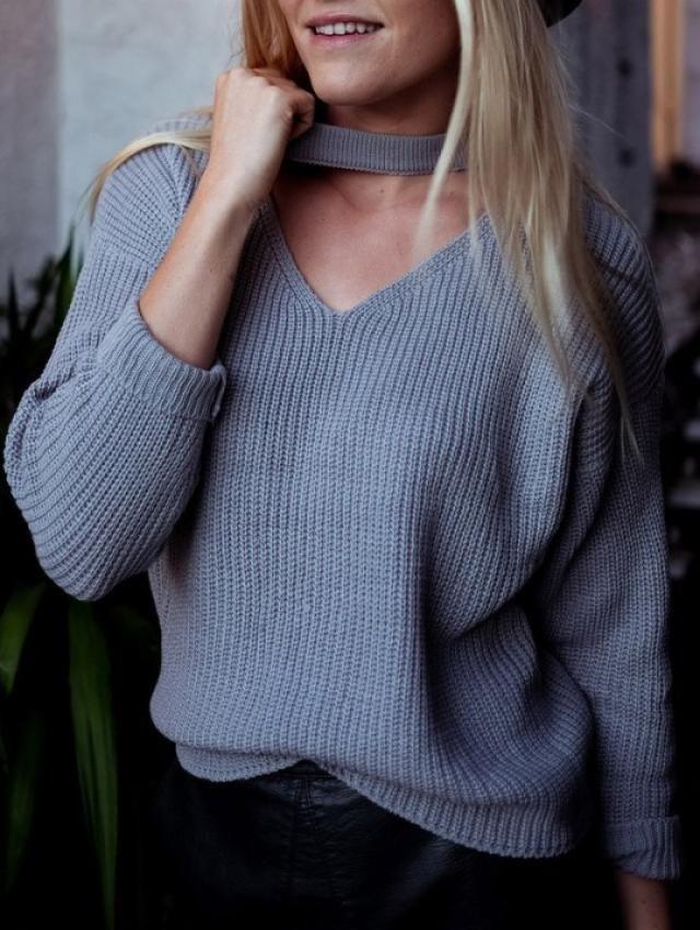 Cut Out Chunky Choker Sweater!!!