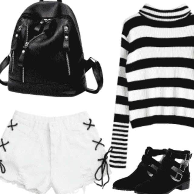 Black and white outfit