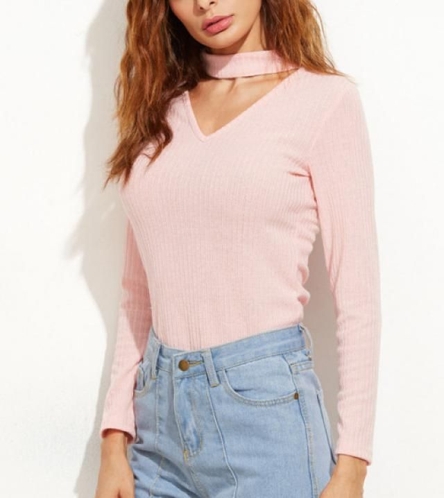 rose sweater and jeans pants are ideal combination