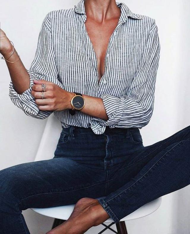 Stripe blouse!