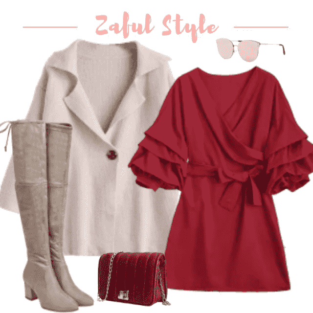 Lovely outfit wearable in every occasion, every time of the day.