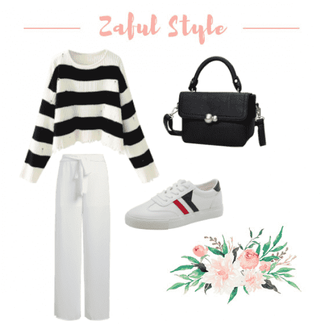Baggy Casual Minimalist, Sneaker casual chic